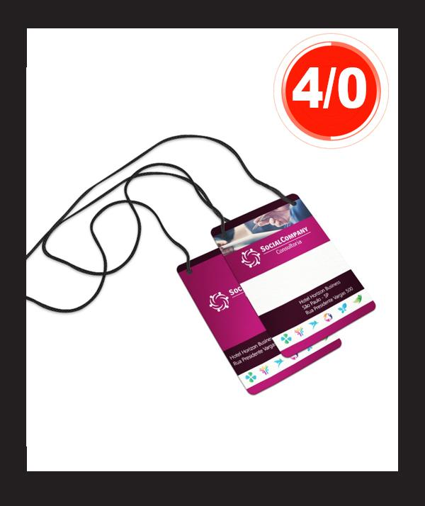 CREDENCIAL PARA EVENTOS EM PVC 50unds