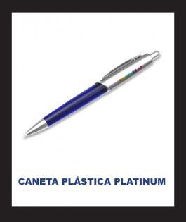 CANETA PLÁSTICA PLATINUM Plástico 4/0  Personalizado