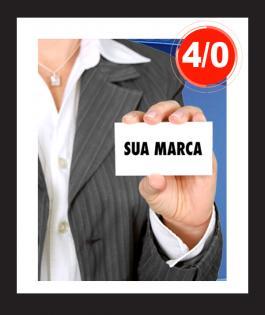 CARTÃO DE VISITA 1000unds Papel Cartão 280gr 9cm x 5cm 4/0 Laminação Fosca F/V e Verniz Localizado Frente