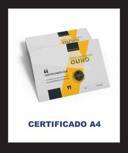 CERTIFICADO A4 Couchê 300gr 4/0