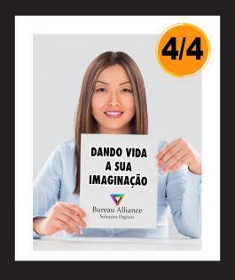 PANFLETO Couchê 90gr Brilho 4/4 Sem Verniz Refilado 5000unds